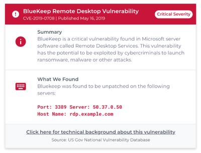 BlueKeep Remote Desktop Vulnerability